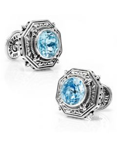 Ice Blue Topaz Cufflinks