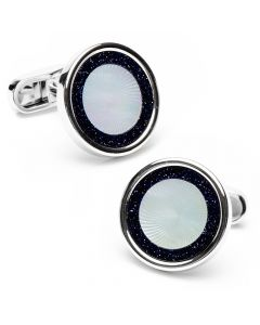 Black Agate & MOP Halo Cufflinks