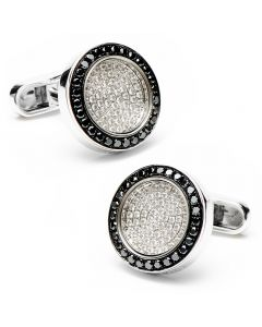 Black & White Diamond Framed Cufflinks