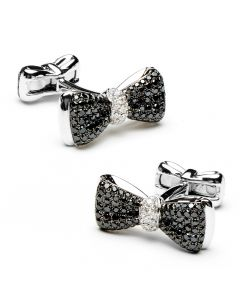 Black Diamond Bow Tie Cufflinks