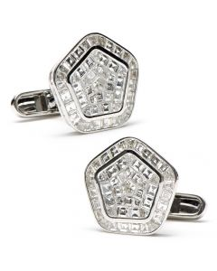 Diamond Baguette Pentagon Cufflinks