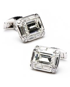 11.95 Carat Diamond Art Deco Cufflinks
