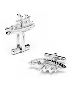 Monopoly Battleship Playing Piece Cufflinks