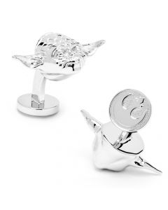 Star Wars Palladium Yoda Cufflinks
