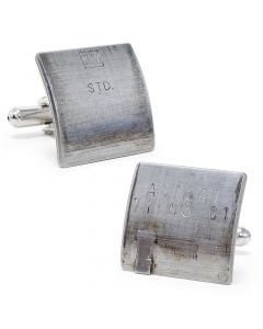 GM Silver Car Bearing Cufflinks