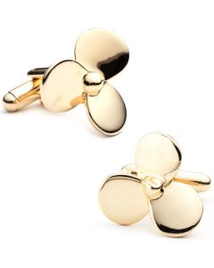 Gold Plated Boat Propeller Cufflinks