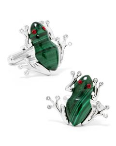 Malachite Rainforest Tree Frog Cufflinks