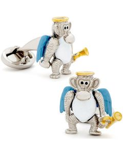 Moving Angel Monkey Cufflinks