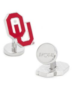 Palladium Oklahoma University Sooners Cufflinks