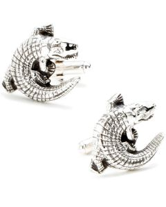 Sterling Alligator Cufflinks