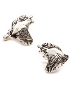 Sterling Quail Cufflinks
