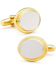 Two Tone Oval Cufflinks