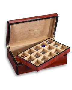 Venlo 30 Holder Burlwood Cufflink Case