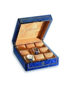 Blue Burlwood 9 Watch Case