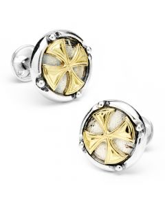 Round Maltese Cross Cufflinks