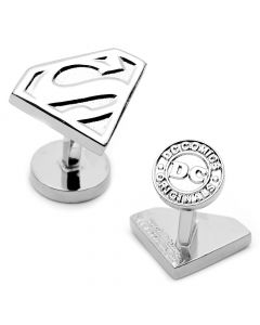 Silver Superman Shield Cufflinks