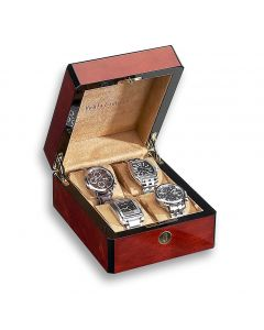 Triple Burlwood 4 Watch Case