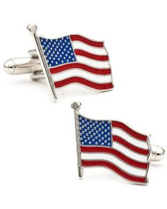 Dancing American Flag Cufflinks