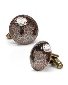 Bronze Hammered Cufflinks