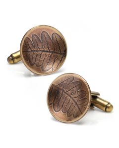 Bronze Roll Print Fern Cufflinks