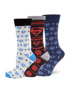 Superman 3 Pair Sock Gift Set