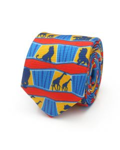 Lion King Animals Big Boys Tie