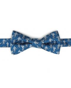 Genie Scattered Blue Men's Bow Tie