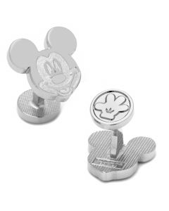 Silver Mickey Mouse Cufflinks