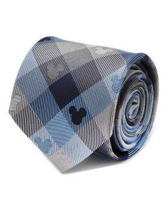 Mickey Mouse Blue Plaid Mens Tie