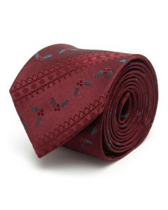 Maroon Holly Stripe Men's Tie
