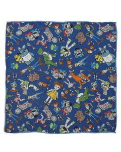 Toy Story 4 Characters Blue Boy's Pocket Square