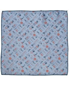 Toy Story 4 Characters Blue Pocket Square