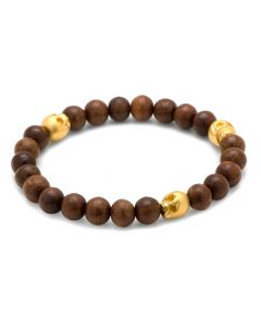 Thomas Wood Stretch Bracelet in Gold