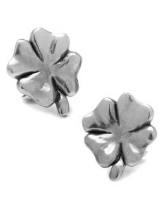 Pewter Lucky Four Leaf Clover Cufflinks