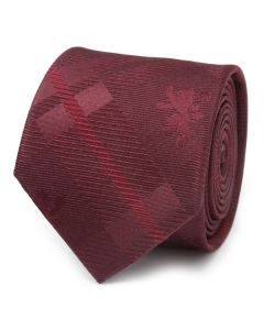 Lannister Lion Red Plaid Silk Men's Tie