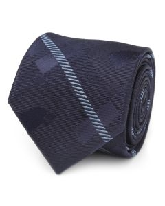 Stark Direwolf Blue Plaid Silk Men's Tie