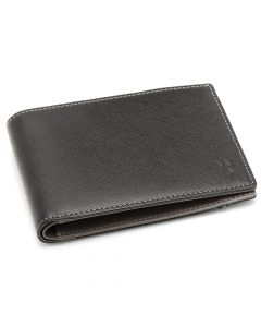 RFID Slim Front Pocket Wallet - Black & Grey