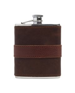 Chocolate Leather-wrapped Flask