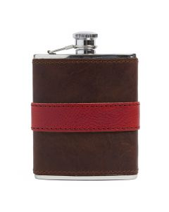 Red Leather-wrapped Flask