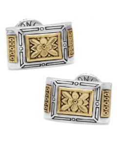 Sterling Silver & Bronze Ornate Rectangle Cufflinks
