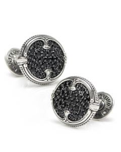 Sterling Silver & Spinel Cufflinks