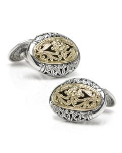 Konstantino Oval Scroll Cufflinks