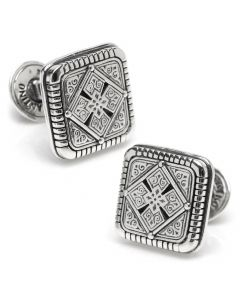 Sterling Silver Maltese Cross Cufflinks