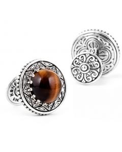 Konstantino Tiger's Eye Cufflinks