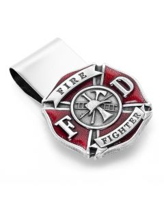 Enamel Firefighter Money Clip