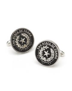 Sterling Texas State Seal Cufflinks