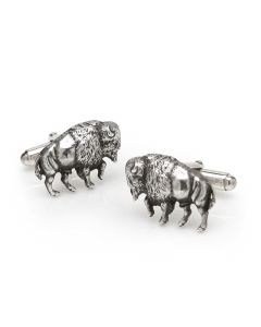 Sterling Buffalo Cufflinks