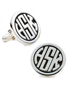 Sterling Personalized Signet Monogram Cufflinks
