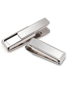 Monterrey Rhodium Plated Silver Money Clip