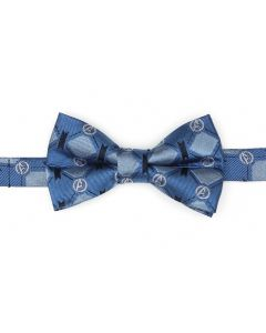 Avengers 4 Argyle Blue Boys Bow Tie